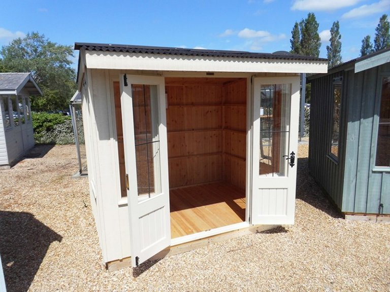 1.8 x 2.4m Flatford National Trust Summerhouse at Burford painted in Dome Ochre