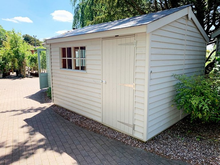 Trentham's 3.0 x 3.6m Superior Shed in Exterior Pebble Paint