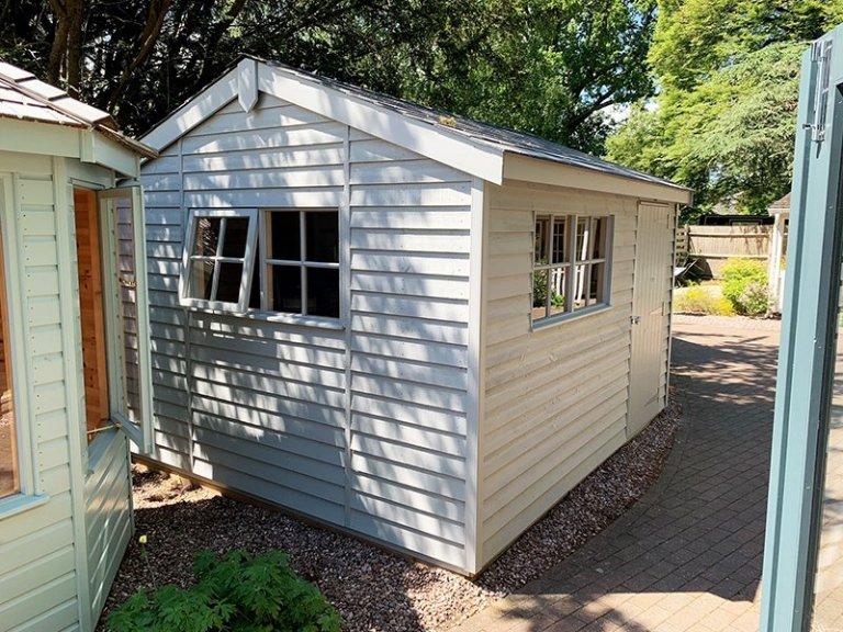 3.0 x 3.6m Superior Shed at Trentham in Exterior Pebble Paint