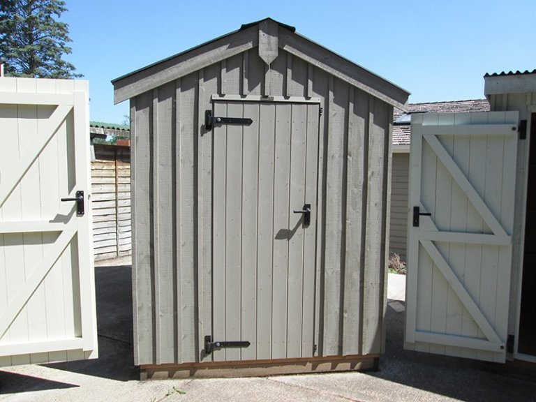 1.8 x 3.0m Peckover National Trust Shed at Sunningdale painted in Wades Lantern
