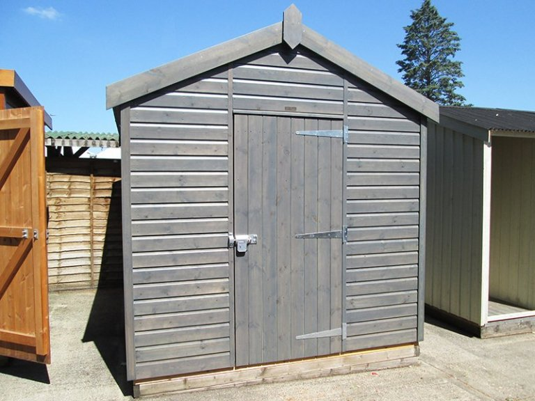 Sunningdale's 2.4 x 3.0m Superior Shed in Sikkens Grey