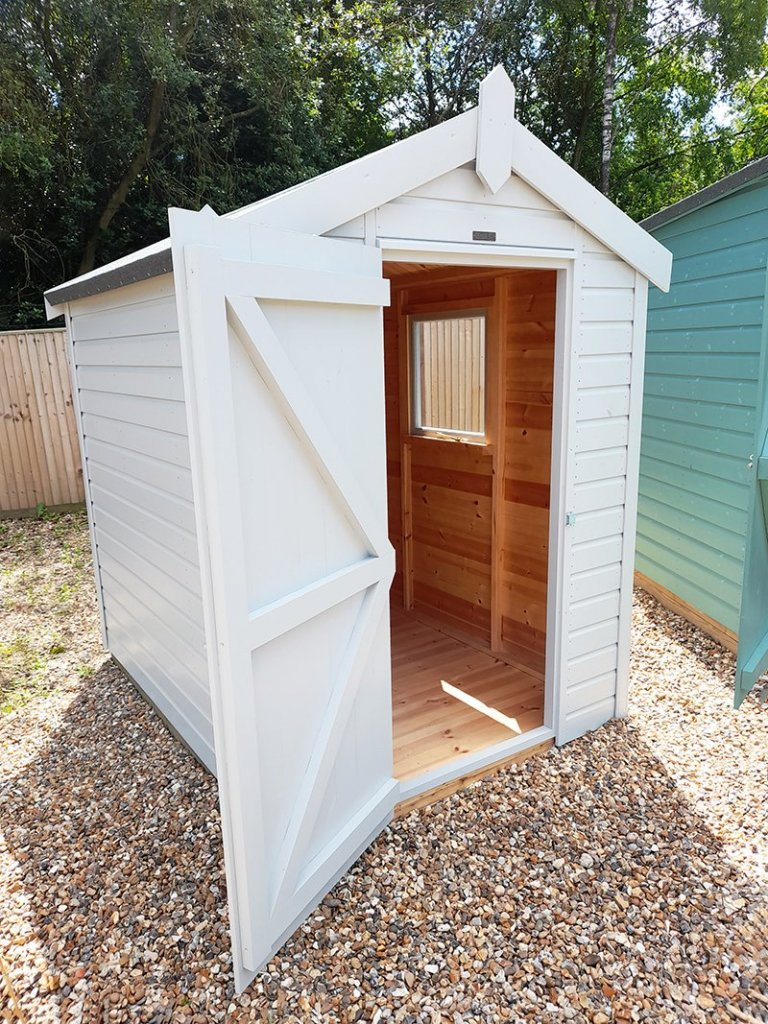 Cranleigh's 1.5 x 2.1m Classic Shed painted in Classic Smoke