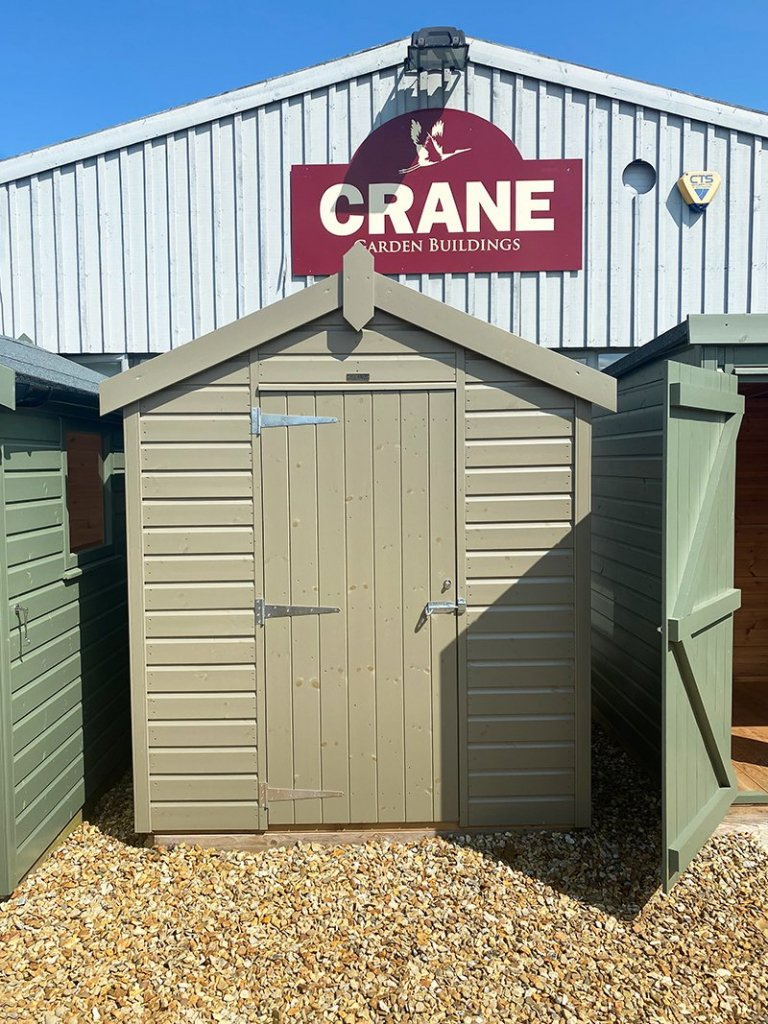 Narford's 1.8 x 2.4m Classic Shed painted in Classic Stone