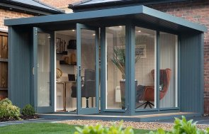 Holt Office measuring 3.0 x 3.6m with stylish pent roof design
